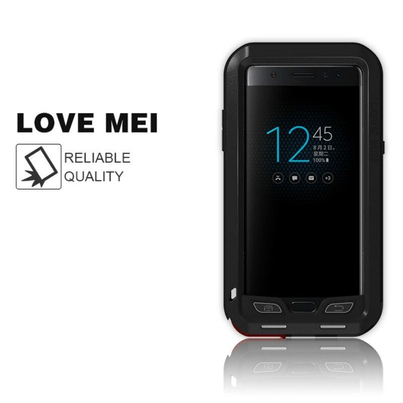 Металлический защитный чехол LOVE MEI для samsung Galaxy Note fe противоударный силиконовый чехол для samsung Galaxy Note fe Fan Edition