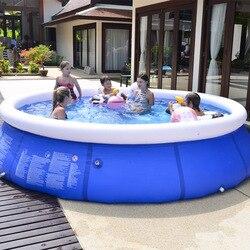360*90 см семейный надувной бассейн над землей плавательный бассейн для детей, взрослых детей, синий сад, открытый гигантский надувной игровой...