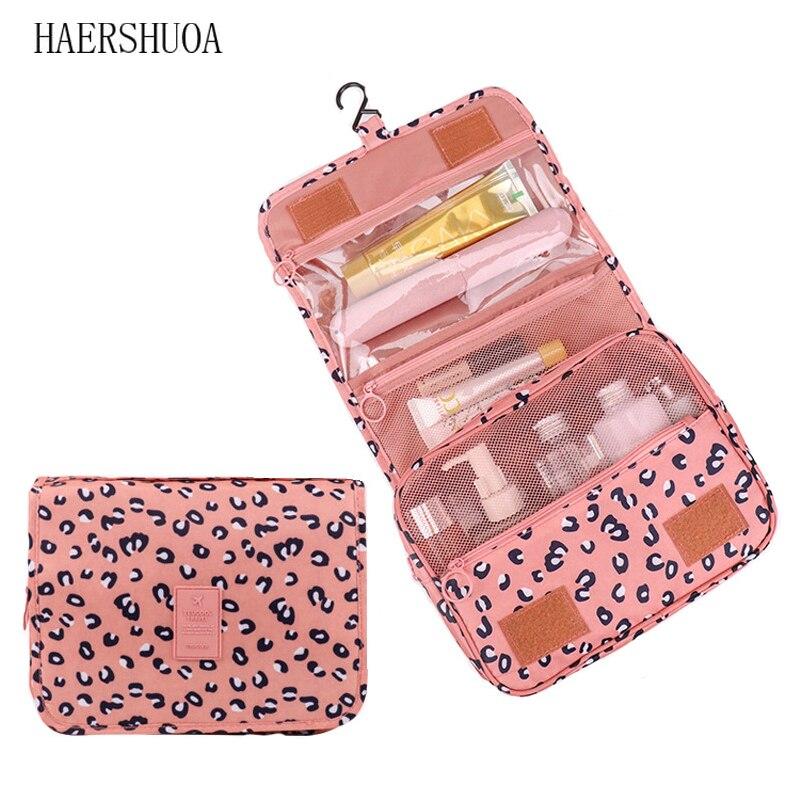 Leopard Travel Storage Bag Ladies Cosmetics Cosmetic Bag Wash Bag Waterproof Hook Bag Shower Cosmetic Bag Storage Bag, Bag Bag