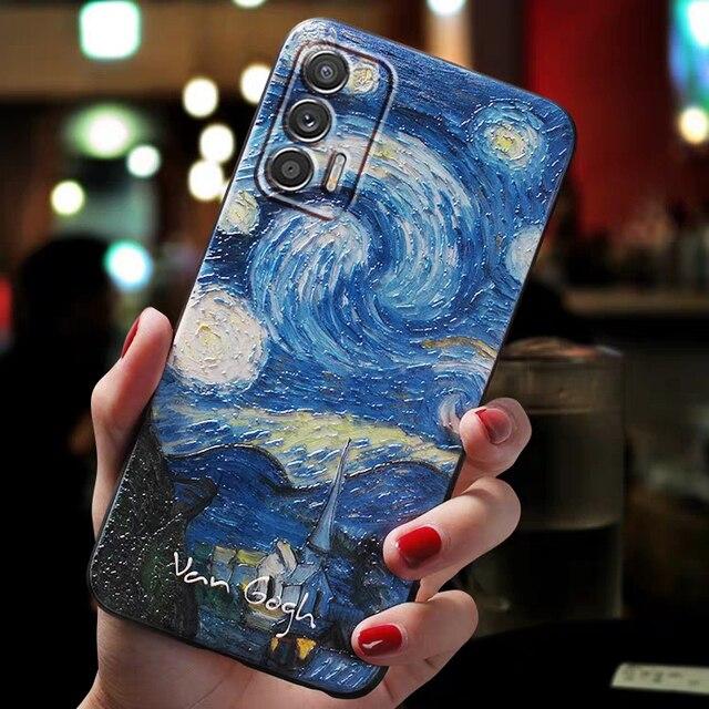 For Fundas Realme GT Neo Q3 Pro Case Cover For Real me Realme GT Q 3 Pro 5G Case Cute 3D Art Coque Cafe Terrace Phone Cases