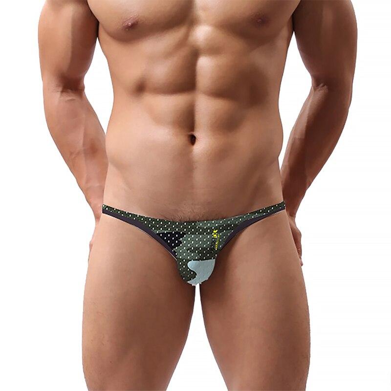 Sexy Underwear Men Briefs Camouflage Men Underwear Mesh Breathable Male Panties Men's Cotton Underpant Jockstrap AD312