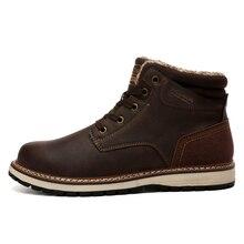 Mens High Top Boots Warm Ankle Booties Fashion Winter Men Sneakers Man Botas Hombre Footwear Male Krasovki Adult 3#15D50