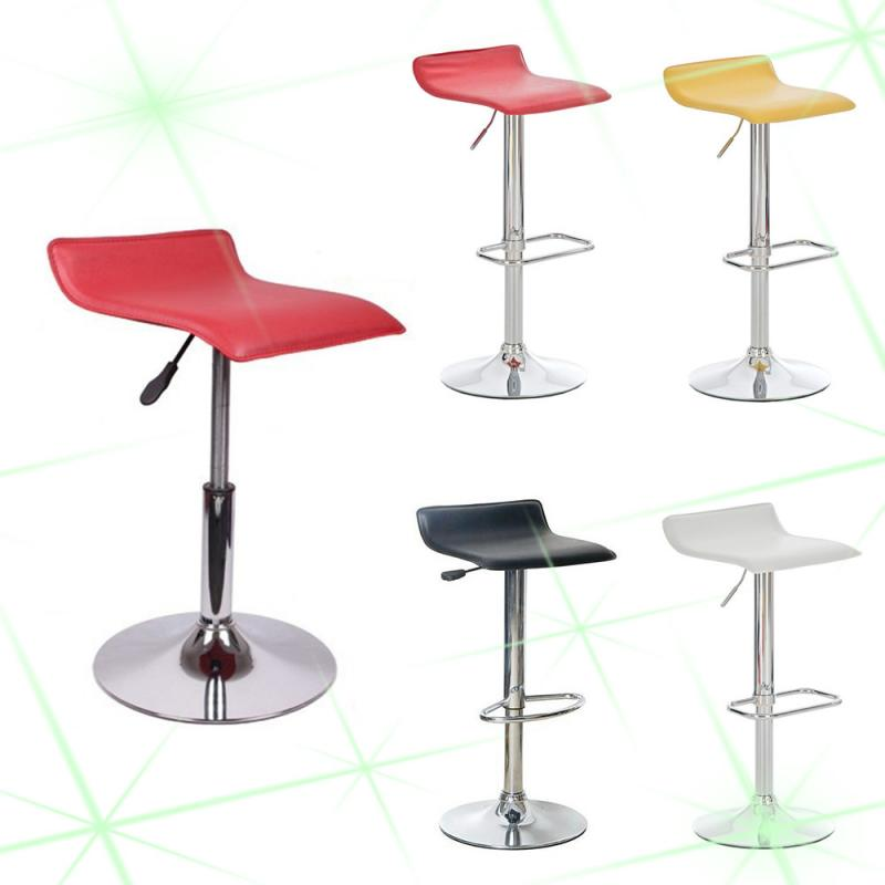 2pcs / Set Simple European-style Square Board Bar Chairs Fashion Bar Chair Soft Leather Adjustable Kitchen Chair BarStools HWC