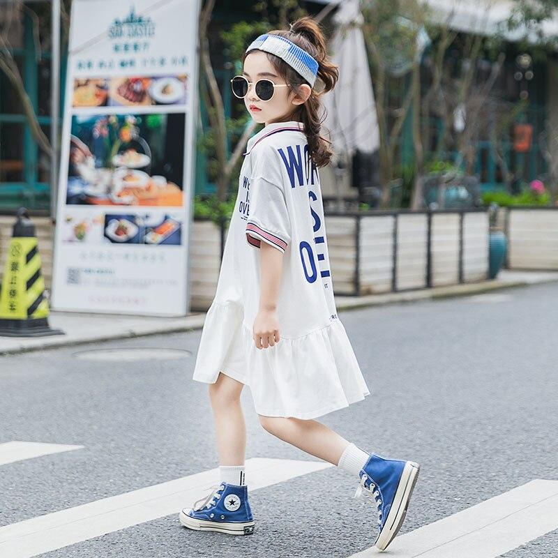 Vestido deportivo plisado para niña, 8, 10 y 12 años, novedad, verano, 2020