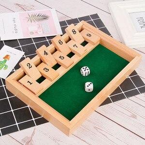 Shut The Box-Juego de mesa de madera para Pub, Juego de 4 jugadores, juguetes para niños, regalo de fiesta de cumpleaños, regalo de Navidad