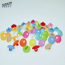 HANLV 13mm 30PCS Mix Colors Random Round Shank Plastic Buttons Apparel Sewing Accessories DIY Crafts