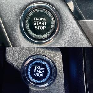Image 3 - ملصقات زر بدء تشغيل محرك السيارة ، لسيارات Toyota corolla chr aygo yaris avensis t25 t27 auris camry 40 rav4 2019 2020 50