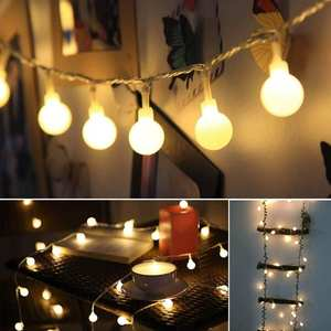 LEADLY String-Light Battery Warm-Lamp Round-Bulb Party-Decoration Powered Remote Wedding
