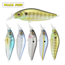 Walk Fish 1PCS 100mm 15g Floating Minnow M005 Fishing lure 3D Eyes Bait Lures Treble Hooks 5 Colors