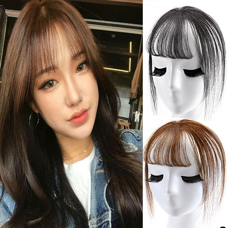 New Fashion 3D BangsInvisible Seamless Head Hair Female Short Fake Hair Bangs Adult Women BB Clip Hair Pieces