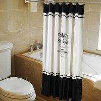 Durável impermeável e de secagem rápida cortina de chuveiro eco-friendly poliéster tela coroa padrão tamanho múltiplo cortinas laváveis
