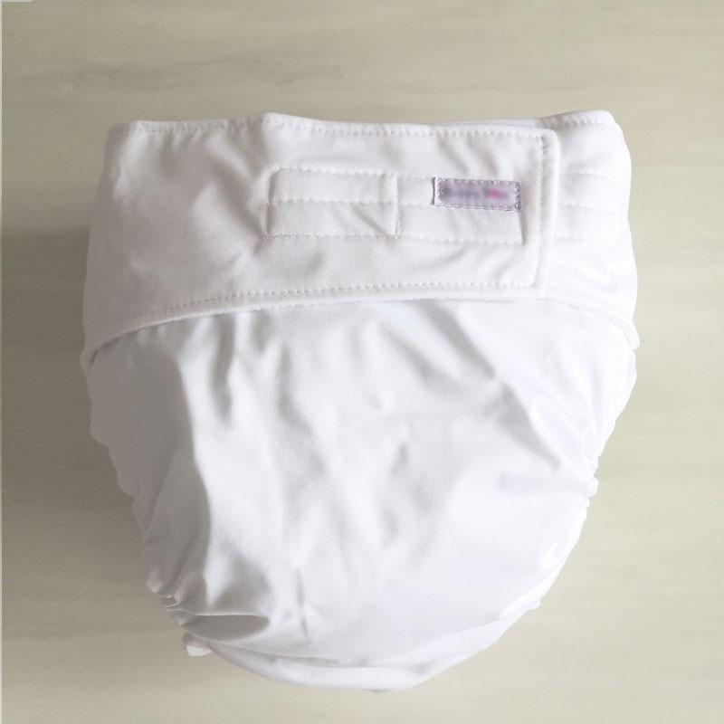 Многоразовые подгузники для взрослых для пожилых людей и людей с ограниченными возможностями, большие размеры, регулируемые термополиуретановые пальто, водонепроницаемая одежда для недержания - Цвет: white