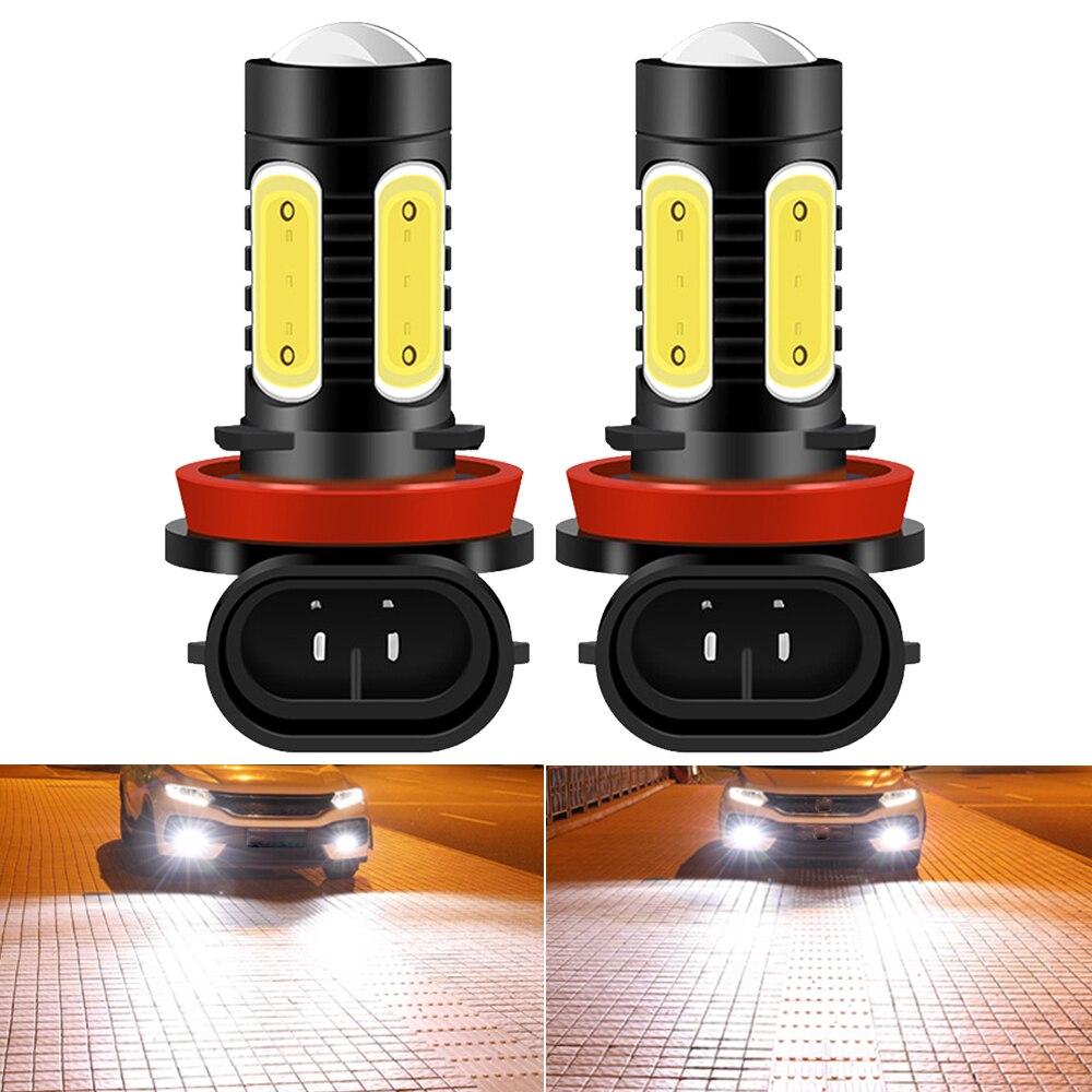2 шт. H11 H7 H4 H8 9005 HB3 9006 HB4 H1 H3 880 881 H16 PSX24W PSX26W P13W H27 светодиодный лампы для автомобилей туман светильник s дневные ходовые светильник 12V