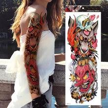 Временные татуировки с изображением животных и черепов цветок