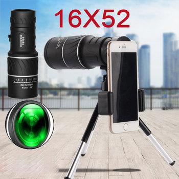 Dual Focus teleskop noktowizor monokularowy 16 #215 52 wojskowy zoom optyczny spyglass monocle do polowania luneta tanie i dobre opinie Kinsmirat 16x52