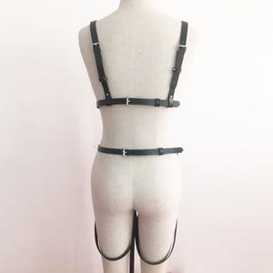 Image 3 - UYEE Fashion Women Harness Body Belts Garters Bondage Belt Punk Strap Band Garter Suspenders Straps Women Sexy Body Cage LT 025