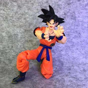 Anime Dragon Ball Black Hair Son Goku Kamehameha Super Saiyan GK Statue PVC Figure Collect Model Toy M2099