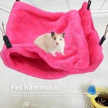 Hamster Hanging House Two Layers Small Pet Hammock Soft Hanging Sleeping Bag Bed with Hook for Hamster Sugar Glider(China)