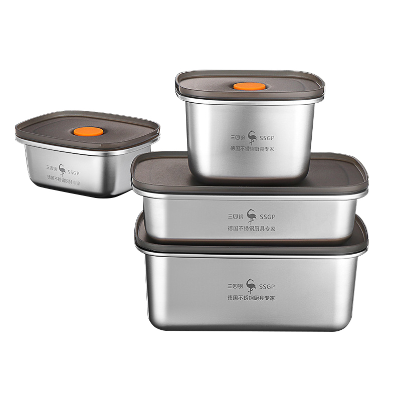 Stainless Steel Lunch Box Food Storage Box Portable Picnic Camping Outdoor Food Crisper Food Storage Container