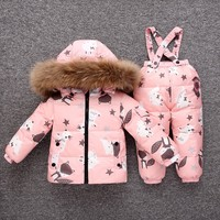 Toddler Boy Clothes Winter Faux Fur Hooded Parka Down Puffer Padded Overcoat Pants Set Kids Boys Outfits Roupas Infantis Menina
