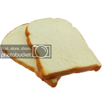 Gresorth 2 PCS Fake Cake Artificial Bread Toast Prop Kitchen Toy Decoration tanie i dobre opinie Form Chleb