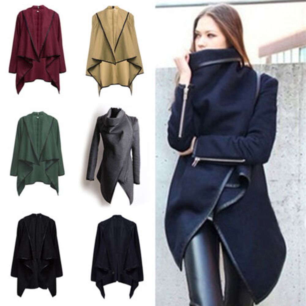 Fashion Women Trench Coat Warm Ladies Overcoat Long Winter Outwear
