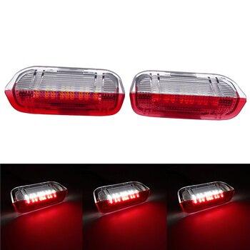 цена на 1 Pair Red LED Car Door Warning Light Courtesy Door Light Fit For VW Passat B6 B7 CC Golf 6 7 Jetta MK5 MK6 Tiguan Scirocco