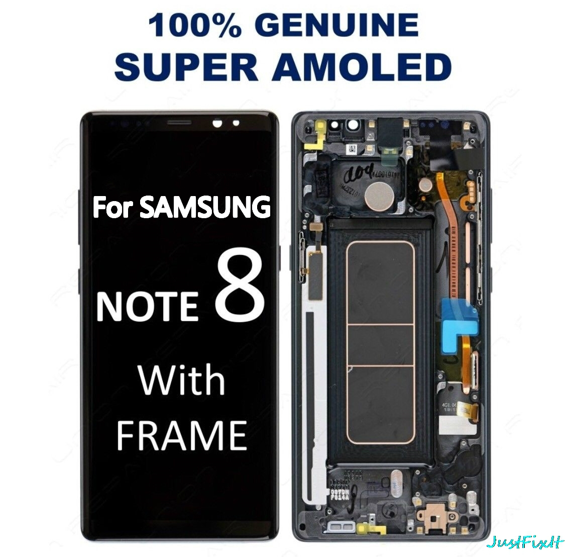100% Original For Samsung Note 8 N9500 N950FD N950U Burn-in Shadow Lcd Display Touch Screen Digitizer Assembly 6.3