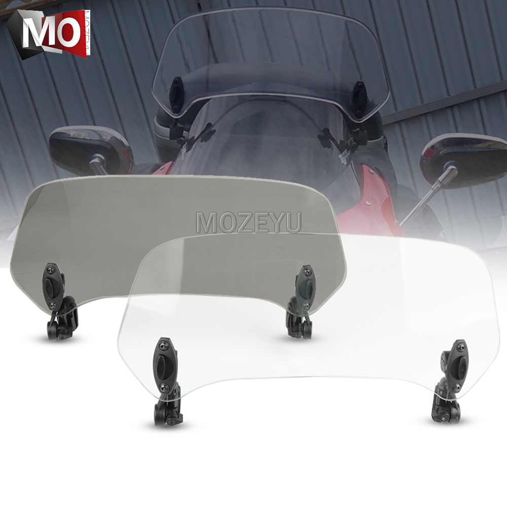 Motorcycle Windshield Extension Spoiler Windscreen Air Deflector For YAMAHA XTZ 660 1200 750 Super Tenere YZF1000R Thunderace