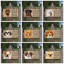 Para os amantes do cão uma casa não é uma casa sem um westie/dourado/beagle/bulldog/bernard/frenchie/poodle cão de estimação pendurado tag presente