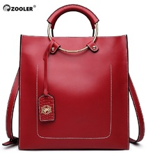 ZOOLER Real Cow Leather Ladies Handbags High Quality Women Genuine Bag Totes Designer Luxury Shoulder Female #6988