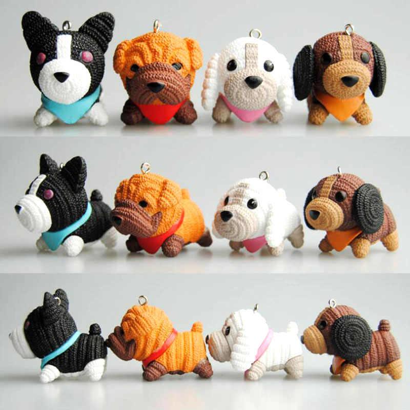 Moda Keychain Do Carro Do Cão Animal Lindo Casal Chaveiro Car Chaveiro Presente Para Menina Mulheres Homens Jóias Dia Das Mães Charme Saco para animais de estimação