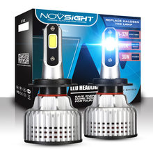 NOVSIGHT H7 led Car lamps 6500K 72W 10000LM Pair H4 H11 H1 H13 9005 9006 H3 9007 Light For Replace Bulb On Cars No Fan No Noise
