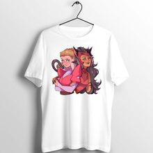 Unisex Mannen Vrouwen T-shirt Ze Ra En Catra Cool Funny Cartoon Kunstwerk Gedrukt Custom Losse Leisure Casual Katoenen Basic top Tees(China)