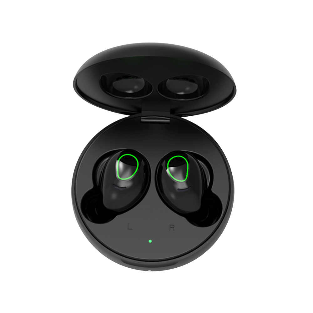 TWS S9 บลูทูธ 5.0 สีชมพูหูฟังน่ารัก True Wireless หูฟังสเตอริโอหูฟังตัดเสียงรบกวนด้วยไมโครโฟน