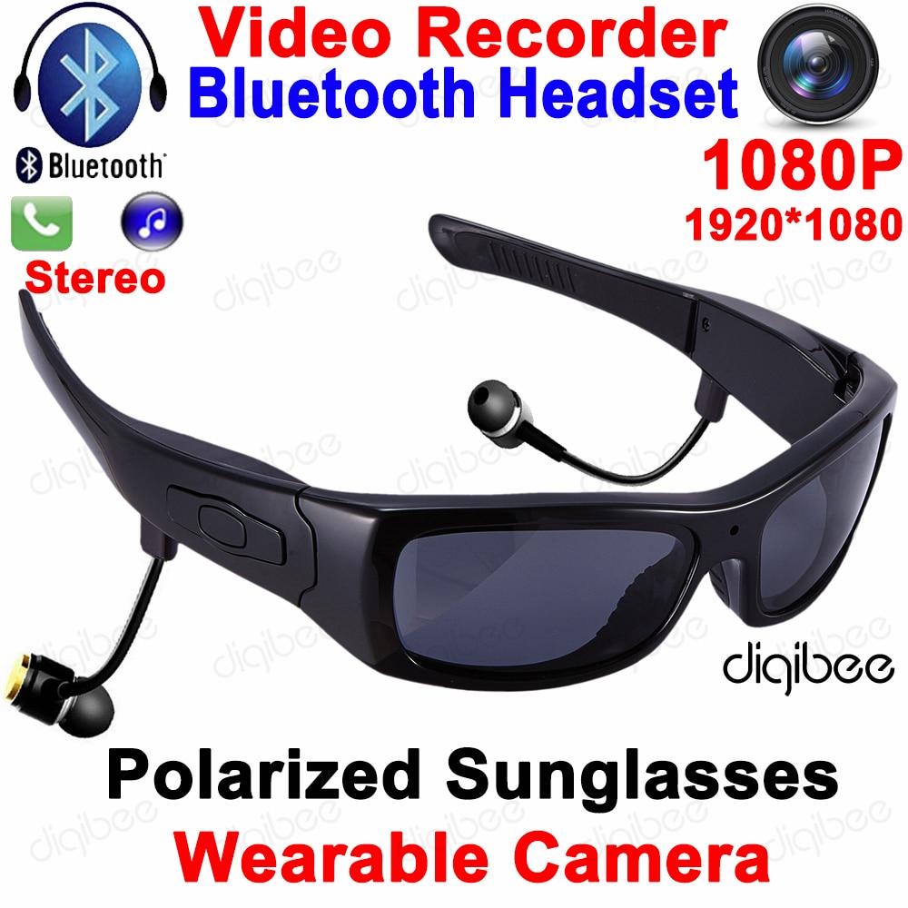 Cool Smart Polarized Sunglasses Bluetooth Headset with Microphone Glasses Camera HD 1080P Digital Video Recorder OTG Mini DV DVR