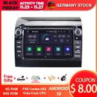 AVGOTOP Android 10 4GB + 64GB reproductor de DVD del coche para FIAT DUCATO/Citroën JUMPER/PEUGEOT BOXER 2011-2015 IPS Carplay de navegación