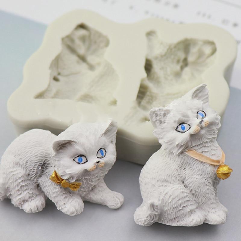 Molde de silicona con patrón de animales lindos molde hacer pastillas de jabón DIY moldes de jabón artesanales para velas, herramienta de epoxi de cristal de fabricación de samon