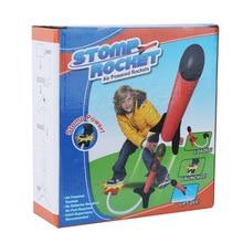 Детская педаль EVA мягкий шар светильник ракета Laucher Эмиссионный Летающий пистолет ракета Laucher Наружная игрушка
