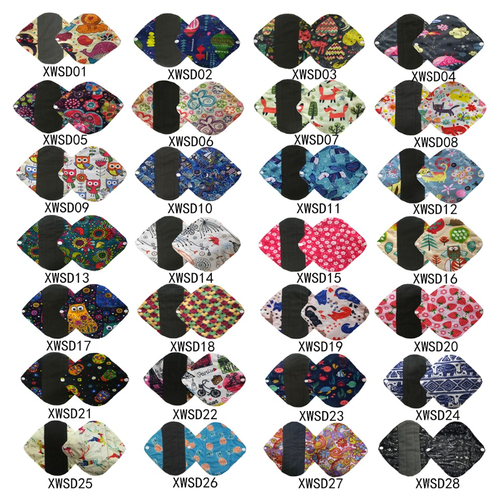 U Pick New Organic Bamboo Inner Washable Reusable Menstrual Pads Sanitary Pads Lady Cloth Pad Panty Liner Feminine Hygiene Pad