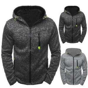 2020 New Fashion Hoody Spliced Jacket Solid Color Men Hoodies Sweatshirts Casual Coat Hooded Cardigan Plus Fleece Thin Clothes