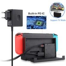 Acアダプタ充電器アクセサリーnintendスイッチnsゲームコンソールeu/米国のプラグ壁の充電usb充電タイプc電源