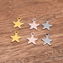 20pcs Gold Tone Tiny Star Charms Stainless Steel Jewelry Charms For Necklace Jewelry Making Accessories