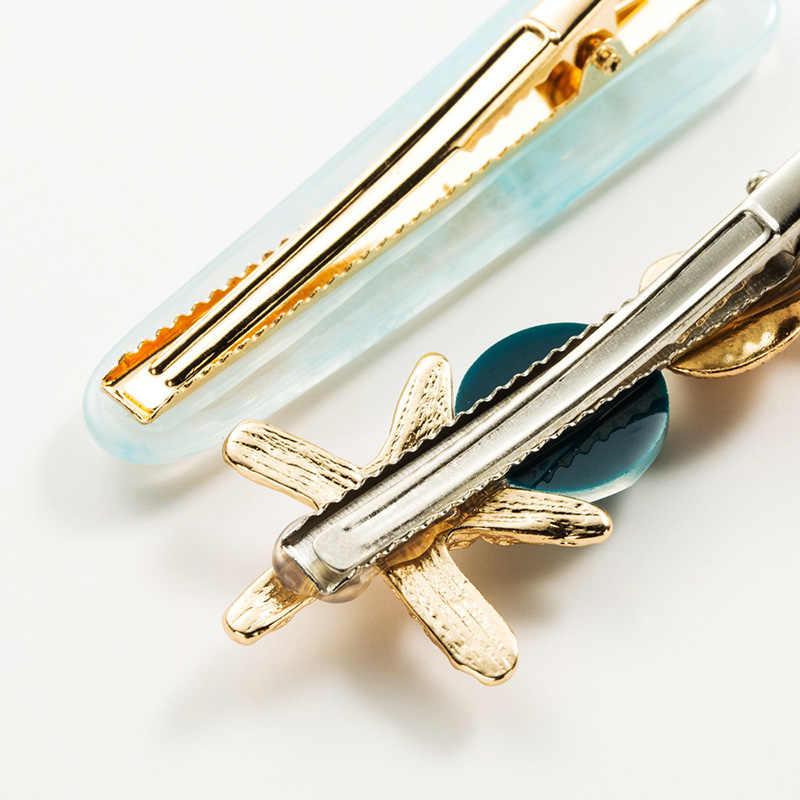 2 unids/set Barrettes de estrellas de mar de verano horquillas de viaje accesorios para el cabello encantadores horquillas de concha chicas Retro nuevo