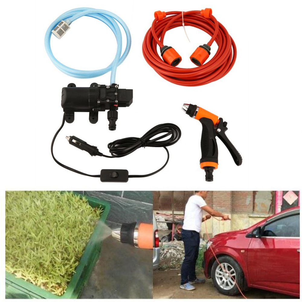 New 6L/min 130PSI High Pressure Car Water Pump Car Cleaning Kit 70W 12V DIY Auto Washing Tools Set Water Saving Car Accessaries