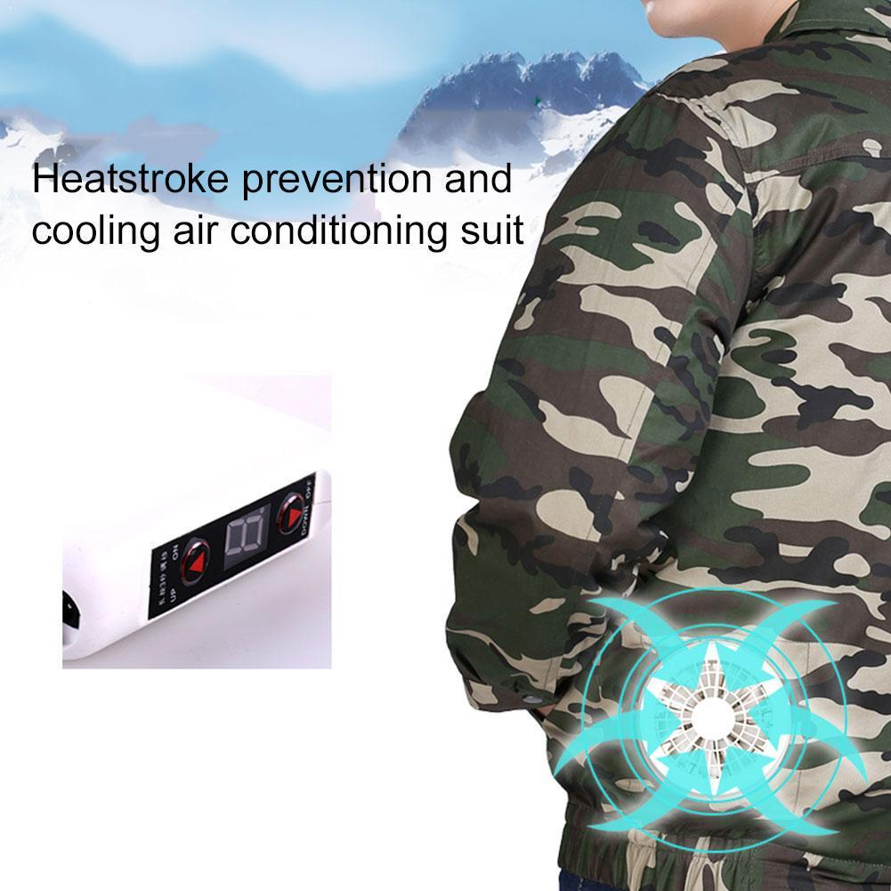 Security Super Air Conditioning Wind Jacket Fan Suit Workwear Fitted Cooling Summer Jacket Air Clothing Conditioning Outdoo E2S0