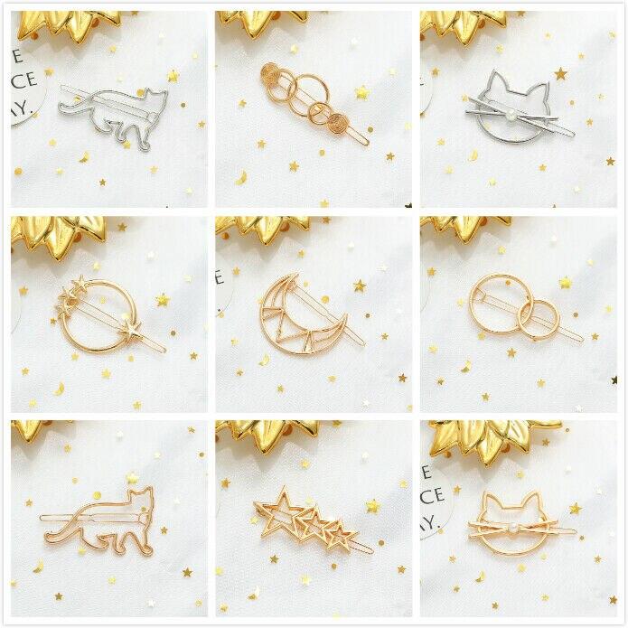 Fashion girl simple clip bang hairpin hair accessories Women's girls cute alloy animal cat hair clip   headwear   Barrettes