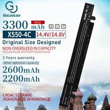 Golooloo 14.8v bateria Para Asus A41-X550A X550CC A41-X550 X450 X550 K550 A450 A550 R409 x550c F450 P450 X550A X550CA F550 X550L