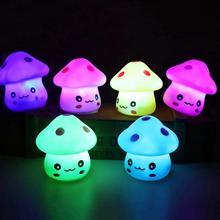 Теплый светодиодный светильник в виде гриба, меняющий цвет, ночник, прикроватная лампа, украшение дома