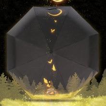 Princesa dobrável guarda-sóis chuva mulher guarda-sol masculino guarda-chuvas feminino anti uv protetor solar da mulher